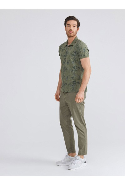 Xint Polo Yaka Pamuklu Slim Fit Baskılı T-Shirt