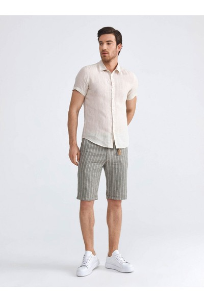 Xint Keten Slim Fit Basic Gömlek