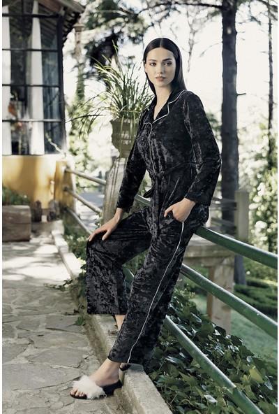 Artış Collection Kadın Kadife Kimono Takım