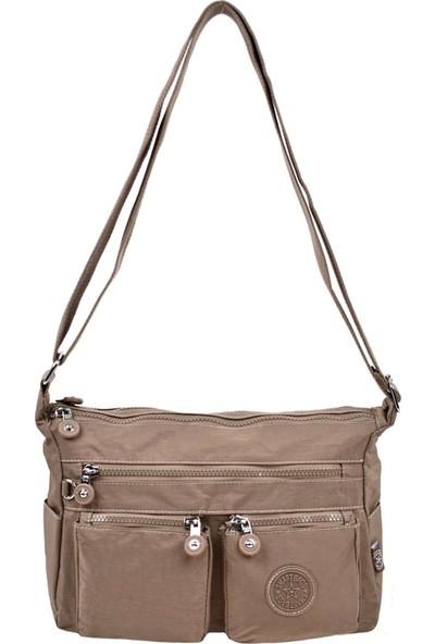 Smart Bags Çapraz Çanta Açık Kahve 3065