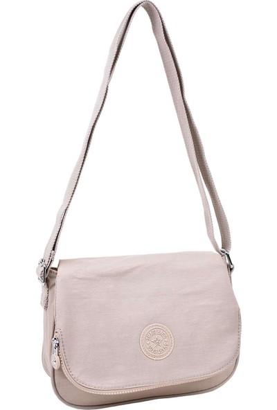 Smart Bags Kapaklı Çapraz Çanta Bej 3056