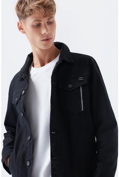 Mavi Erkek Frank Black Pro Zift Siyah Jean Ceket