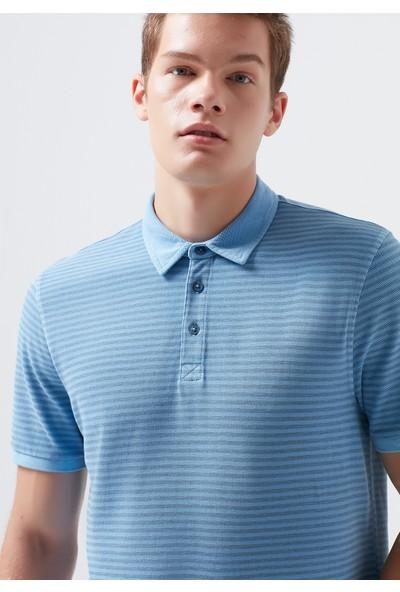 Mavi Erkek Mavi Polo Tişört