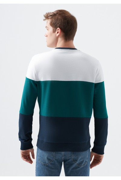 Mavi Baskılı Beyaz Sweatshirt 066365-620