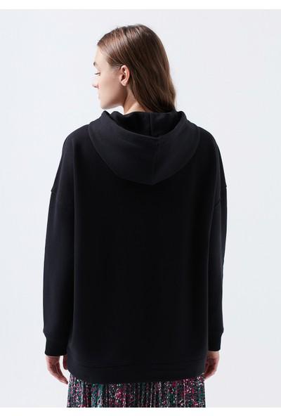 Mavi Kadın Kapüşonlu Siyah Sweatshirt 168327-900
