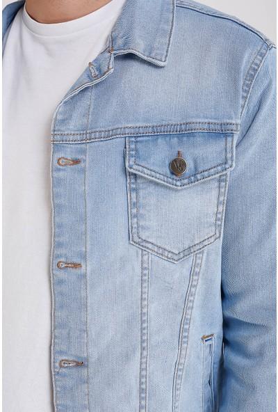 Lee Jones Denim Buz Mavisi Kot Ceket
