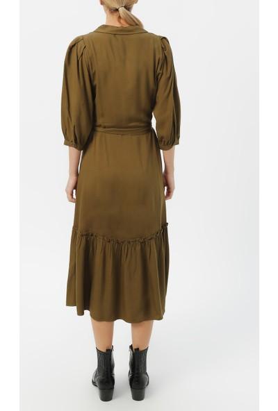 Random Kadın Truvakar Kol Belden Bağlamalı Elbise