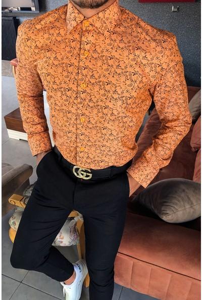 Terapi Men Erkek Uzun Kollu Desenli Gömlek