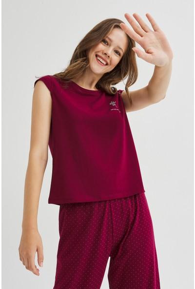 Penti Base Burgundy Pijama Takımı