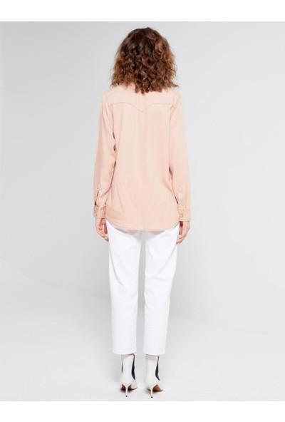 LTB Olıvıa Rose Dust Wash Kadın Jeans Gömlek