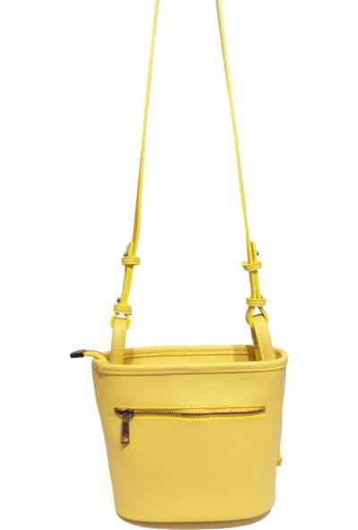 Moor Original Design Sarı Kadın Püsküllü Zincirli Omuz Çantası