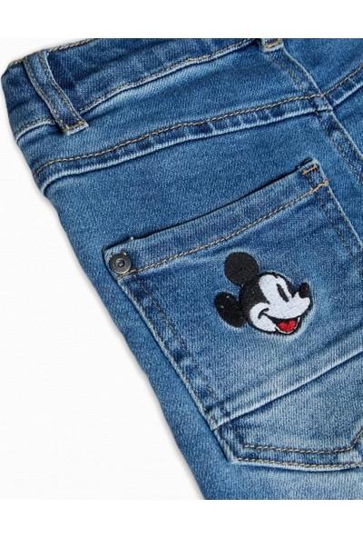 Name it Erkek Çocuk Disney Mickey Baskılı Jean Pantolon