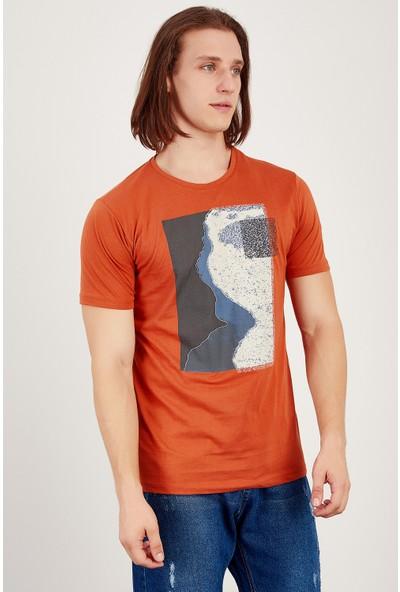 MNC Tarçın Erkek Baskili Nakişli T-Shirt Me20S214880