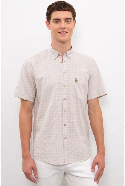 U.S. Polo Assn. Erkek Beyaz Gömlek Kısakol 50218559-VR011