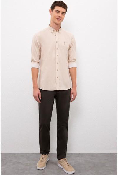 U.S. Polo Assn. Erkek Beyaz Gömlek Uzunkol 50219614-VR085