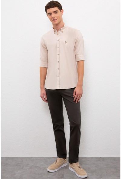 U.S. Polo Assn. Erkek Beyaz Gömlek Uzunkol Basic 50219784-VR085