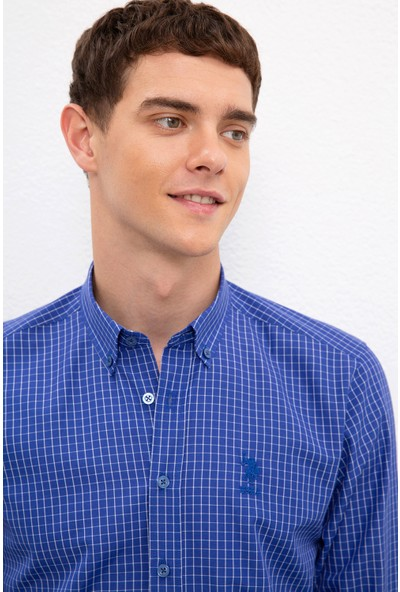 U.S. Polo Assn. Erkek Lacivert Gömlek Uzunkol 50231300-VR033