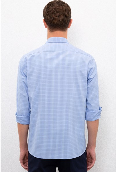 U.S. Polo Assn. Erkek Mavi Gömlek Uzunkol 50231300-VR036