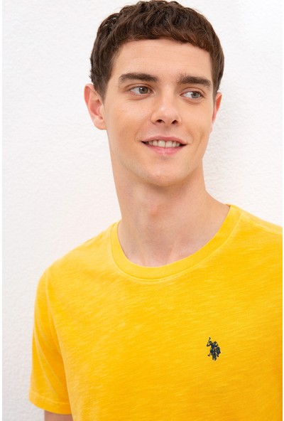 U.S. Polo Assn. Erkek Sarı T-Shirt Basic 50220102-VR094
