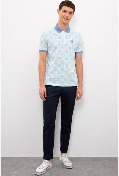 U.S. Polo Assn. Erkek Yeşil T-Shirt 50225022-VR020