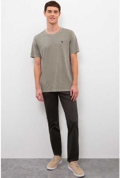 U.S. Polo Assn. Erkek Yeşil T-Shirt Basic 50220102-VR027