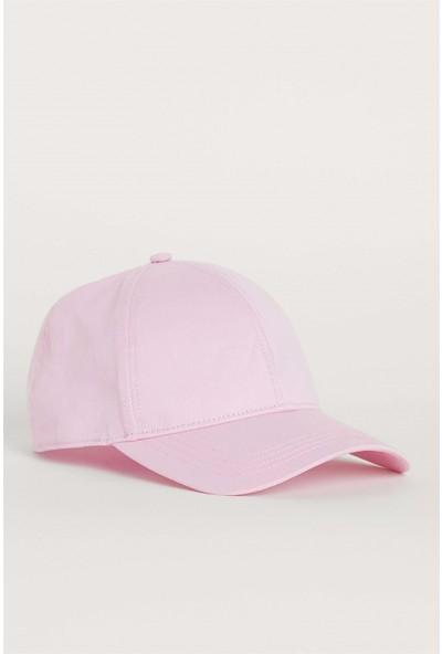 Külah Kadın Şapka Metal Kilitli Gabardin Kep - Pembe