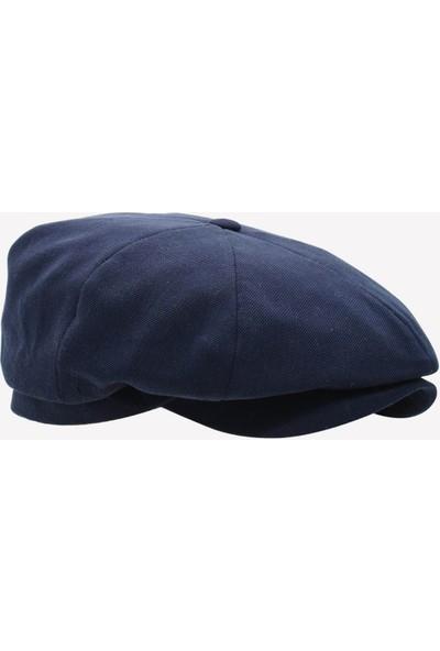 Külah Erkek Şapka Yazlık Ingiliz Stili London Kasket Lacivert