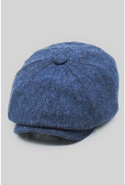 Külah Erkek Peaky Balıksırtı Desenli Ingiliz Kasket Şapka