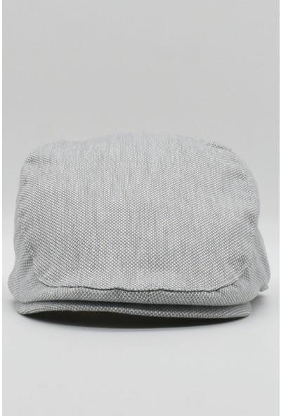 Külah Gri Dokulu Erkek Kasket Yazlık Spor Şapka