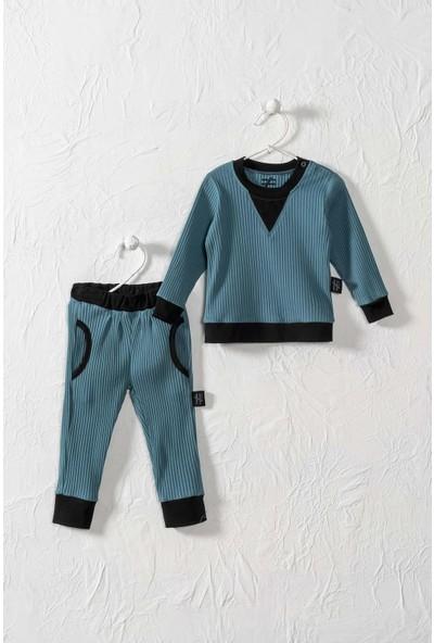 Moi Noi Unisex Bebek ve Çocuk Ribanalı Alt Üst 2 Parça Takım