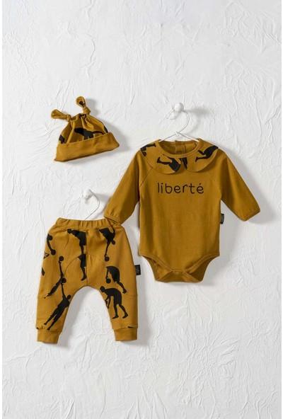 Moi Noi Unisex Bebek Yakalı Şapaklı Badi Takım