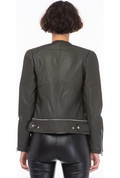Dynamo 5445 Kadın Deri Ceket