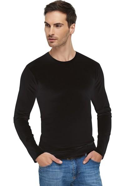 Tutku Elit Erkek Elastan Sıfır Yaka Uzun Kollu T-Shirt 3'lü Paket