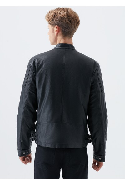 Mavi Erkek Siyah Biker Ceket 010328-900