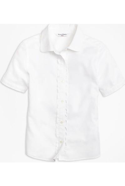 Brooks Brothers Kız Çocuk Beyaz Gömlek