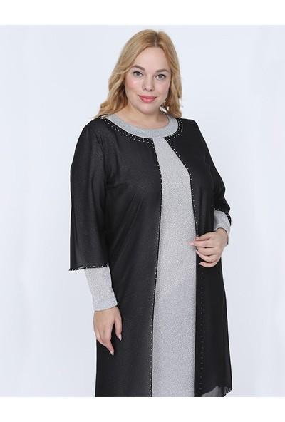 Sevista Simli Şifon Tunik Elbise Beyaz 50