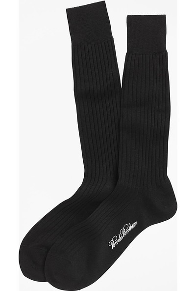 Brooks Brothers Erkek Siyah Çorap