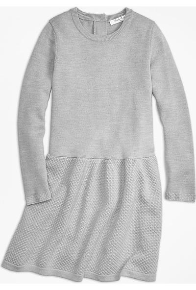 Brooks Brothers Kız Çocuk Gri Triko Elbise