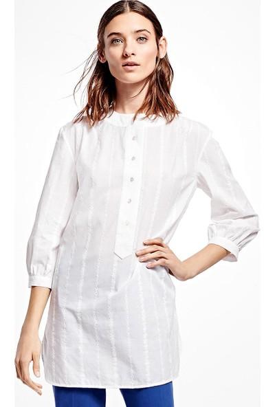 Brooks Brothers Kadın Beyaz Gömlek Tunik