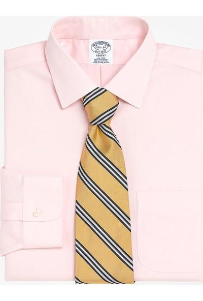 Brooks Brothers Erkek Pembe Non-İron Kravat Yaka Regent Kalıp Klasik Gömlek