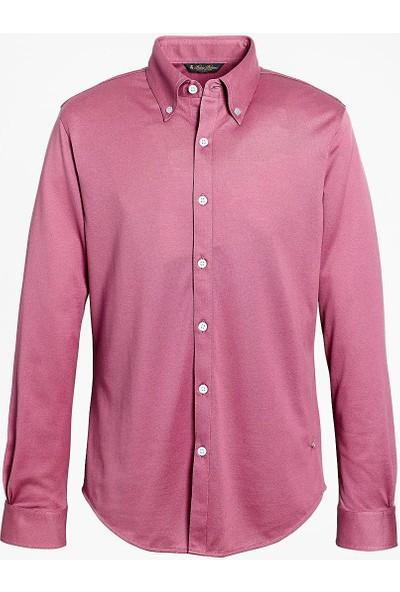 Brooks Brothers Ekstra İnce Supima® Pamuk Pike Gömlek