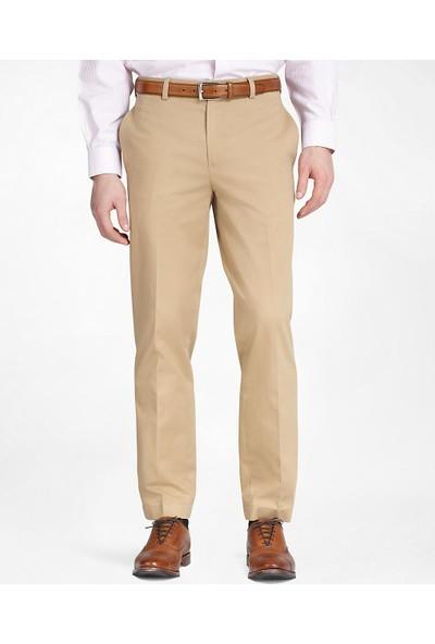 Brooks Brothers Erkek Bej Clark Kalıp Chıno Pantolon