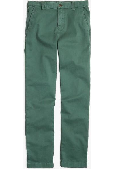 Brooks Brothers Erkek Çocuk Asker Yeşili Chıno Pantolon