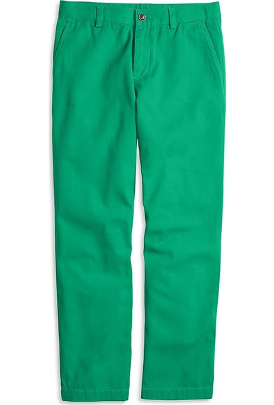 Brooks Brothers Erkek Çocuk Yeşil Chıno Pantolon