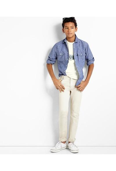 Brooks Brothers Erkek Çocuk Bej Pantolon