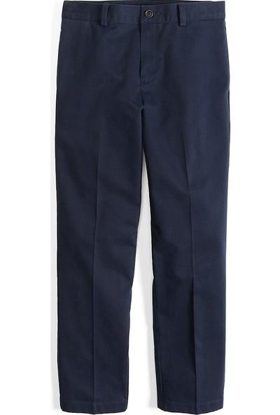 Brooks Brothers Erkek Çocuk Lacivert Düz Esnek Chıno Pantolon