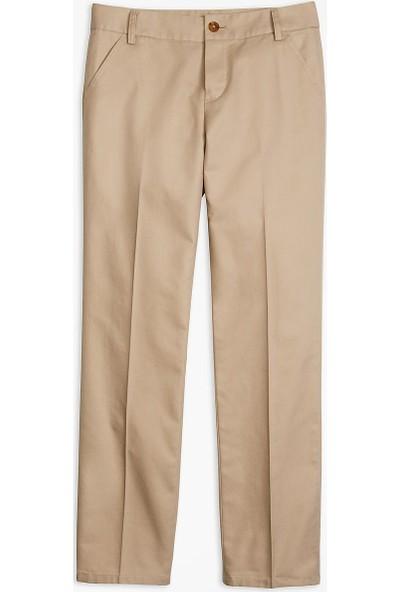 Brooks Brothers Kız Çocuk Bej/ Haki Chıno Pantolon