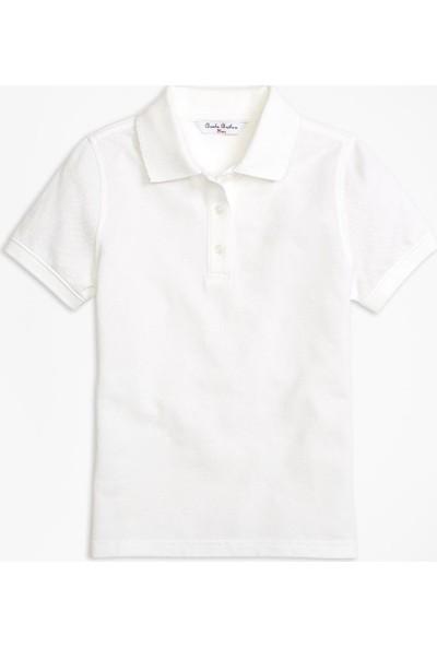 Brooks Brothers Kız Çocuk Lacivert Pike Polo T-Shirt