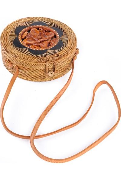 Mermeaıd's Bambu Ahşap Kabartmalı Çanta