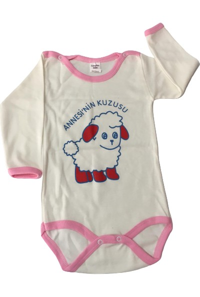 Özkaplan Ana Kuzusu Kız Bebek Zıbın - Beyaz - 24 Ay